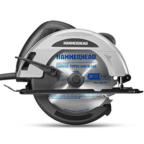Hammerhead 12-Amp 7-1/4 Inch Circular Saw with Saw...