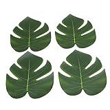 SEVENHOPE 12 Stück Künstlich Tropische Blätter Palmblatt Palme Monstera Deko für Hawaii Luau Jungle Beach Theme Party Dekoratione - 4