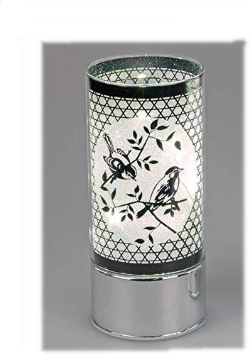 Formano Deko-Licht Motiv Vogelpaar 20cm aus Glas mit LED-Licht