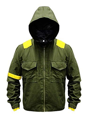 Vicenzia Leder Twenty One Herren 21 Grüne Piloten Trench Jumpsuit aus Baumwollstretch Levitate Camouflage Jacket (M)