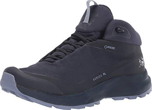 Arc'teryx Aerios FL Mid GTX Shoe Women's | Gore-TEX Hiking Shoe | Black Sapphire/Binary, 8