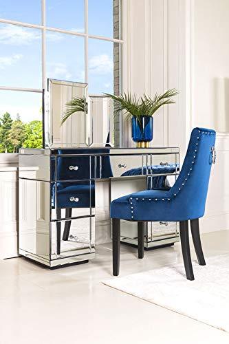 My-Furniture verspiegelter Nachttisch (verspiegelte Valeria)