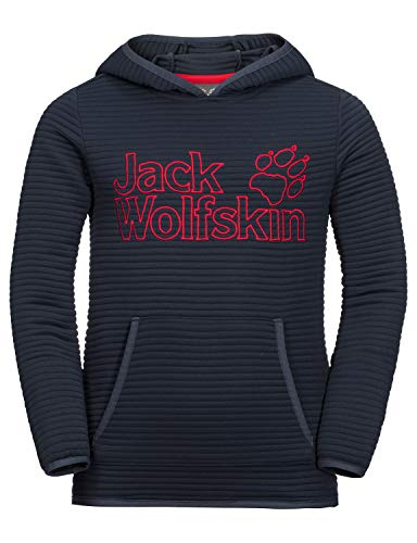 Jack Wolfskin Kinder Modesto Hoody Kids Warmer Fleecepullover, Night Blue, 176
