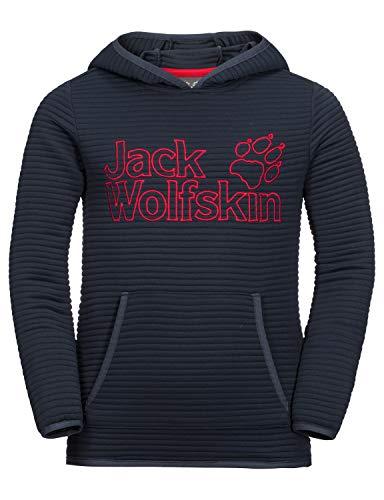 Jack Wolfskin Kinder Modesto Hoody Kids Warmer Fleecepullover, Night Blue, 128