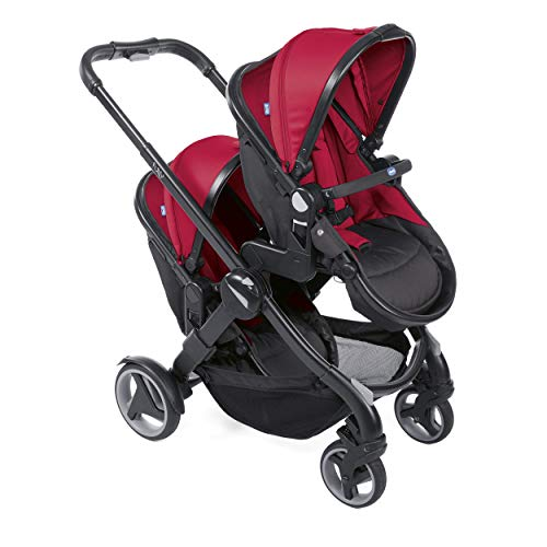 Chicco 07079003640000 Duo Kinderwagen Buggy Fully, RED PASSION