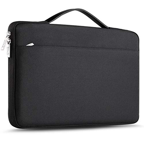 """ZINZ 15-15.6 Inch Laptop Sleeve for All Model MacBook 15"""" & Most 15-15.6"""" Dell/Asus/Acer/HP/Toshiba/Lenovo Spill-Resistant Ultrabook Netbook Tablet Bag Case Cover -Black"""