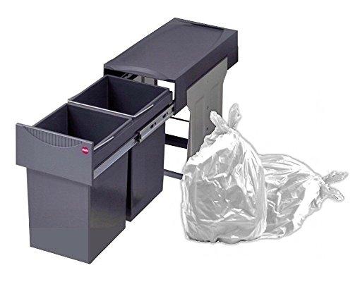 Hailo Abfallsammler TA Swing 30.2/31 Tandem Abfalleimer Einbau Mülleimer 3666-11