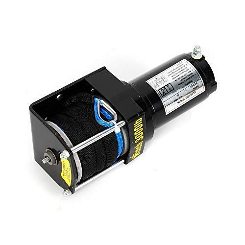 12V 3000LB Cabrestante Eléctrico Motor Cable de Elevación de Tracción 1360KG Winch...