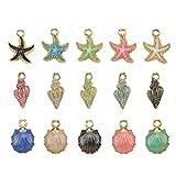 SUPVOX 15 Piezas Colgantes Encantos de de Aleación de Estrella de Mar Concha para Collar Pulsera Fabricación de Joyas