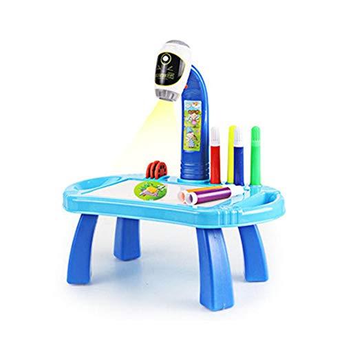 Zeichnen Doodle Board, Lern-Schreibtisch mit Smart-Projektor, Projektor-Lern-Zeichen-Mal-Set, pädagogische Projektion Malerei Spielzeug, Geburtstagsgeschenk für Kinde Kleinkinde