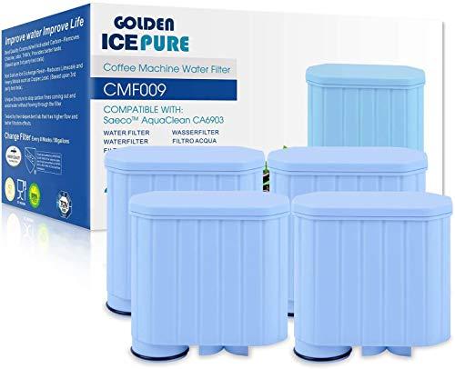 Kaffeevollautomat Wasserfilter Ersatz für Philips AquaClean CA6903/00 CA6903/01 CA6903/99 CA6903 CA6707 Kalkfilter, Saeco Aqua Clean Filterpatrone 4 stück von GOLDEN ICEPURE (rechnung vorhanden)