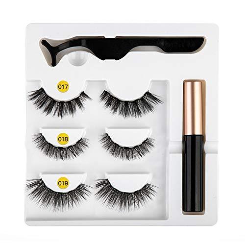 Eyeliner magnétique Kit de faux cils facile à porter Eyeliner liquide à séchage rapide Eyeliner magnétique de faux cils Eyeliner liquide magnétique Eyeliner liquide Faux Cils Jeu de pincettes # Mix 13