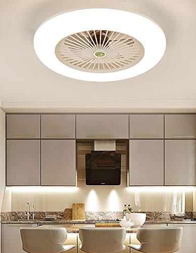SLZ Ceiling Fan with Lighting, LED Fan Ceiling Fan, 36 W, Ceiling Lighting, dimmable with Remote Control, 3 Files, Adjustable Wind Speed, Modern bedroom58CM,Clear