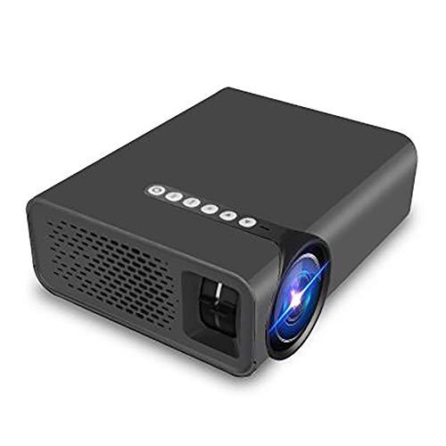 JSL tragbarer 1080P LED-Projektor, unterstützt mehrsprachige Diffusor-Reflektion, USB, HDMI, Heimkino-Projektor, als Geschenk Schwarz