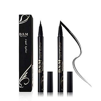 Waterproof Liquid Eyeliner Long Lasting&Smudgeproof Eye Liner 2 Packs Precise Eyeliner Pen for All Day with Slim Tip Black by SEILANC
