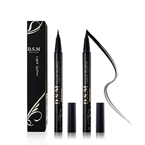 Waterproof Liquid Eyeliner Long Lasting&Smudgeproof Eye Liner 2 Packs Precise Eyeliner Pen for All Day with Slim Tip, Black, by SEILANC