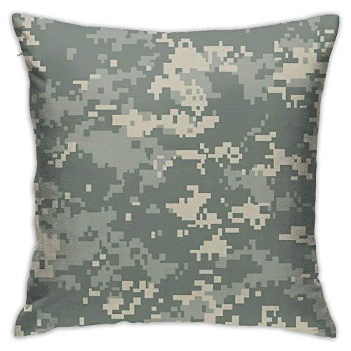 QUEMIN Army ACU - Funda de almohada decorativa de camuflaje 3D para sofá, dormitorio, coche, 55,88 x 55,88 cm