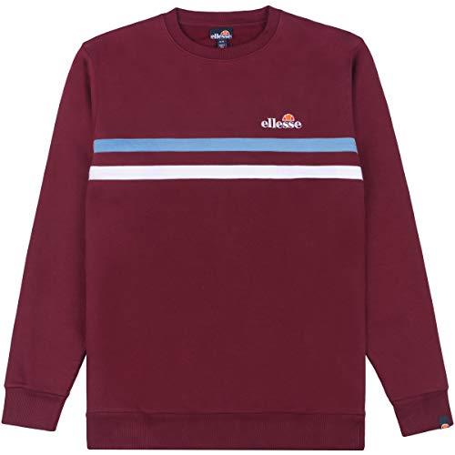 ellesse Herren Sweatshirt Erminion, Farbe:Burgundy, Größe:L