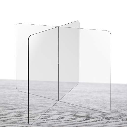 Shield Geek Premium Table Divider Sneeze Guard (30' x 30' x 24' Tall)