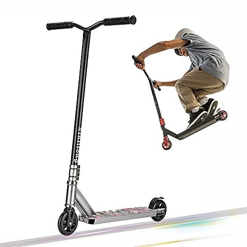 CDPC Pro Stunt Scooter para niños de 8 a 12 años, Kick Scooter con rodamientos de Bolas ABEC 7, Horquilla de Aluminio CNC 6061 - Scooters de Trucos de Estilo Libre intermedios y Principiantes par