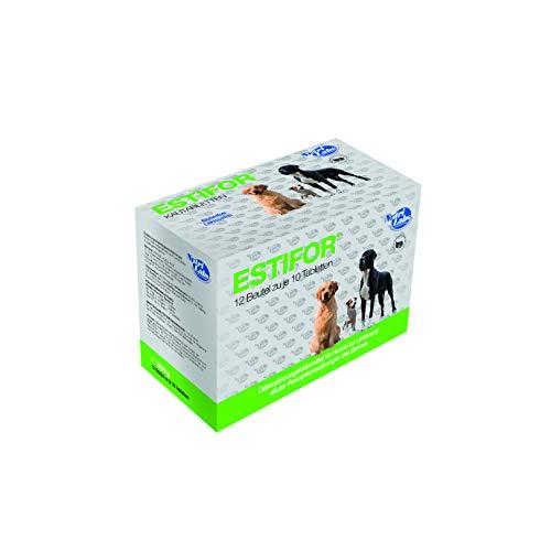 NutriLabs Estifor Ergänzungsfuttermittel Kautabletten für Hunde, 1er Pack (12x 10 Tabletten)