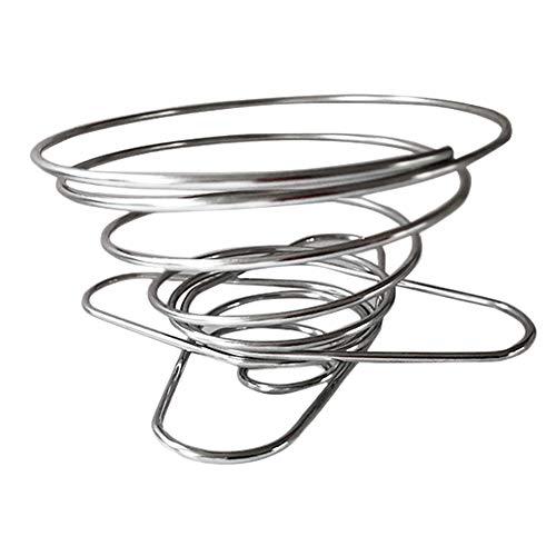 BHAIR5 - Soporte para filtro de café, herramientas de cocina, oficina, hogar, verter sobre camping, tazas reutilizables, de acero inoxidable, universal, plegable