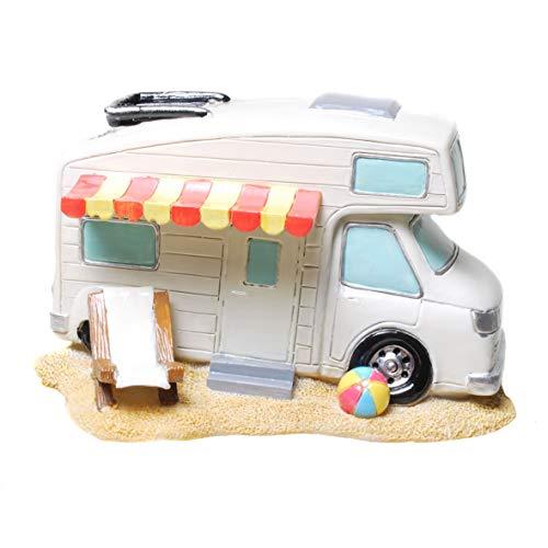 Topshop24you wunderschöne Spardose,Sparbüchse Wohnmobil,Campingkasse,Reisekasse,Urlaubskasse mit Markise