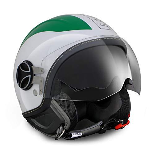 MOMO Design 10030080013Helm Momo Avio Pro Italia grün/weiß/rot 150 ° DECALC Outline Schwarz S, Bianco