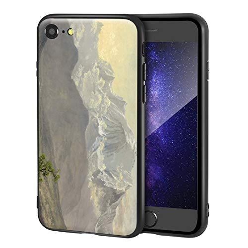 Berkin Arts Albert Bierstadt paral iPhone SE(2020)/iPhone 7/8/Estuche para teléfono móvil Artes/Impresión Giclee UV Cubierta del teléfono(Mont Blanc)