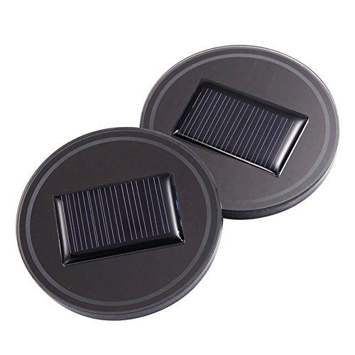 lzndeal 2 Pcs Solaire Voiture Tasse De Voiture avec LED Lumière Fond Tapis Pad Couverture Lampe Bouteille Boissons Coaster