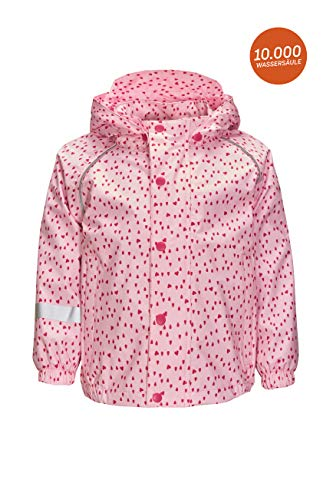 Killtec Funktionsjacke Mädchen Yuley Mini - Kinderjacke mit Kapuze - Übergangsjacke Mädchen ist wasserdicht - Kinder Outdoorjacke, hellrosa, 110/116