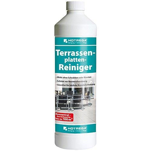 HOTREGA Terrassenplatten Reiniger - Reinigung für Terrasse und Balkon - Schutz vor Neuverschmutzung 1 Liter