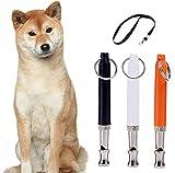 Zibnwee 3pcs Ultrasonic Dog Training Whistles with Lanyard, Dog Training Set for Stop Barking.Free Premium...
