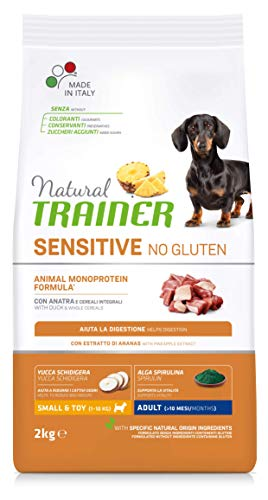Natural Trainer Sensitive No Gluten - Cibo per Cani Small&Toy Adult con Anatra e Cereali Integrali 2kg