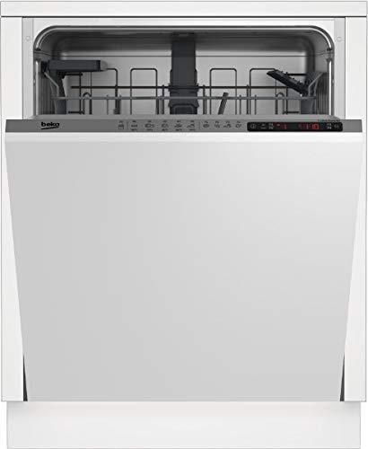 Beko DIN25411 lavavajilla Totalmente integrado 14 cubiertos A+ - Lavavajillas (Totalmente integrado, Tamaño completo (60 cm), LCD, Frío, Caliente, Hot air, 14 cubiertos)