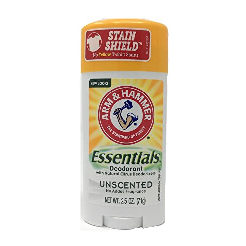 ARM & Hammer Essentials Solid Deodorant Unscented 2.5 oz (Pack of 12)