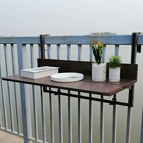Mesa Colgante de balcón Plegable,No es fácil de oxidar, se puede colocar al aire libre durante mucho tiempo, para patio, jardín