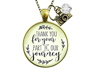 Gutsy Goodness 24  Wedding Photographer Gift Necklace Thank You for Part Camera Charm