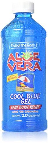 Aloe Vera Cool Blue Gel With 1% Lidocaine, 20 Oz. (3 Pack Value Bundle)