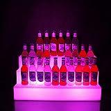 Espositore Per Bottiglie Di Vino Con Luce a LED, Espositore Per Bottiglie Con Scaffale Per Liquori Illuminato a 3 Livelli Espositore Per Bottiglie Illuminato Per Casa E Commerciale Con Telecomando