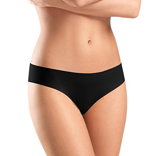 Hanro Damen Slip Invisible Cotton, Schwarz (Black 0019), 38/40 EU (Herstellergröße: S)