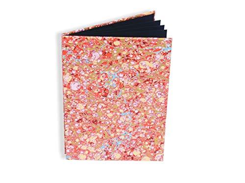 Leporello Fotoalbum für Baby, mit schwarzen Seiten, Zick-Zack-Falz für 9x13 und 10x15cm Photos, rotes Faltbuch, handgemachtes Einsteckalbum, Foto-Buch für wenig Fotos