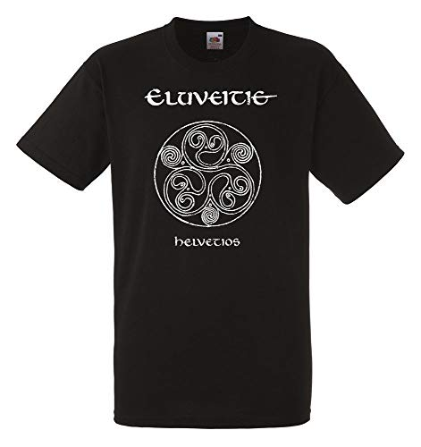 Eluveitie Helvetios Black New T-Shirt Fruit of The Loom