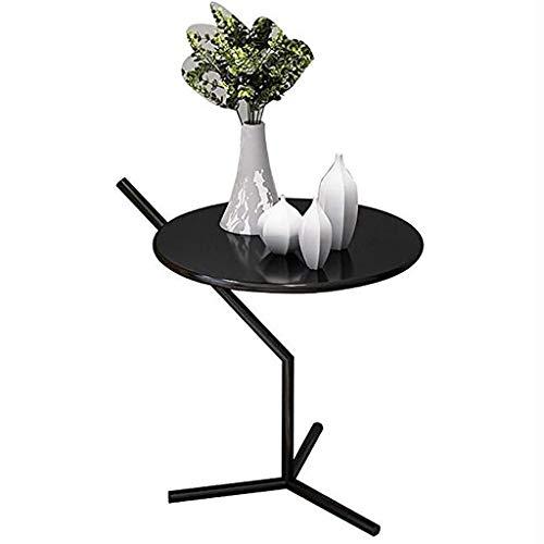 Nordic canapé côté Petite Table Ronde lit Petite Table Mobile armoires de Coin Table Basse Occasionnelle Table d'appoint (Couleur : Noir)