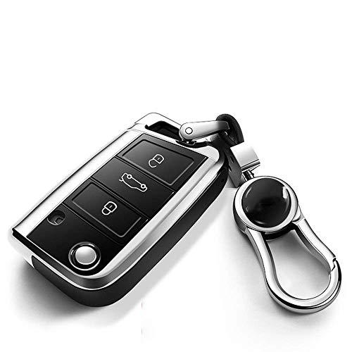 YUAAZ Cubierta De La Llave del Coche TPU Funda para Llave Funda para Llave Funda Protectora para Carcasa, para VW New Passat Lavida Tiguan Car Holder Shell