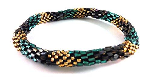 Dames Crochet glazen bedelarmbanden: verkrijgbaar in mooie modieuze kleuren – één maat past iedereen.