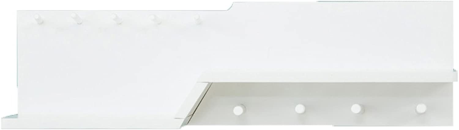 LIANGLIANG Floating Wall Shelves Shelf Coat Rack Hanger The Top Can Store A Fixed Hanger Solid Wood 2 Sizes 3 colors Available (color   White, Size   70  14  20cm)