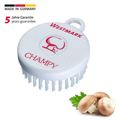 Westmark paddenstoel- en groenteborstel, kunststof boren, rond, diameter: 7 cm, champy, wit, 51802260