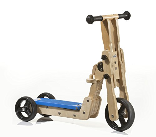 Geuther - 2 in 1 Scooter Laufrad 2973, natur/blau