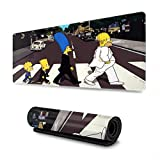 Simpsons Mouse Pad Rectangle Non-Slip Rubber Electronic Sports Oversized Large Mousepad Gaming Dedicated,for Laptop Computer & PC 11.8X31.5 Inch